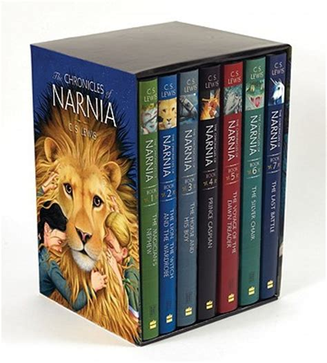 narnia picture books the chronicles of narnia box set 7 books in 1 box set by