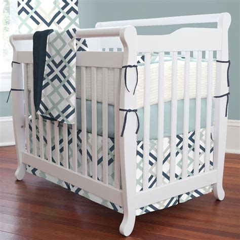bedding for mini cribs navy and gray geometric mini crib bedding carousel designs