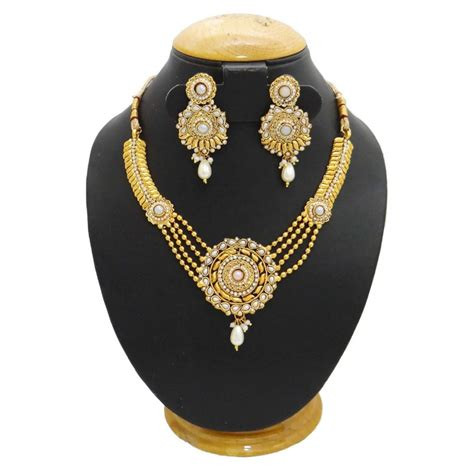 how to make gold plated jewelry south indian jewelry 18k gold plated necklace set wedding