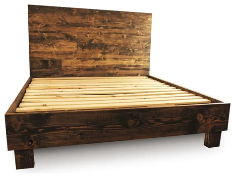king bed platform frame farm style platform bed frame walnut california