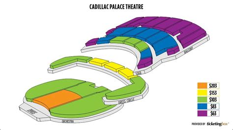 Cadillac Theatre Box Office by Cadillac Palace Seating Chart Local Stuff To Try
