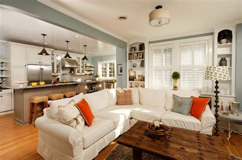 paint colors kitchen family room combination ideas to keep kitchen and living room together