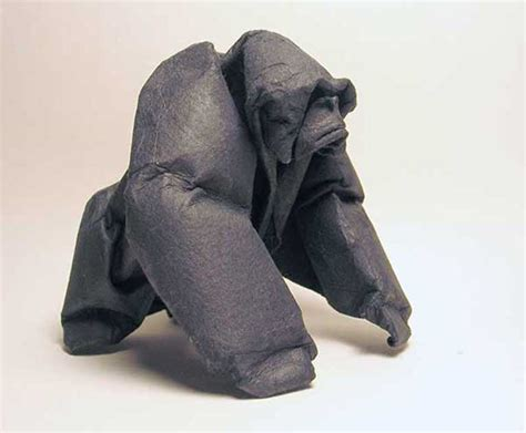 origami gorilla gorilla origami sculpture by giang dinh giang dinh