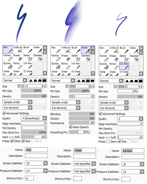 paint tool sai custom brushes paint tool sai brushes by lesheketai on deviantart