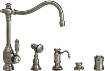 air in kitchen faucet waterstone 4200 4 annapolis suite kitchen faucet with side spray soap dispenser air switch