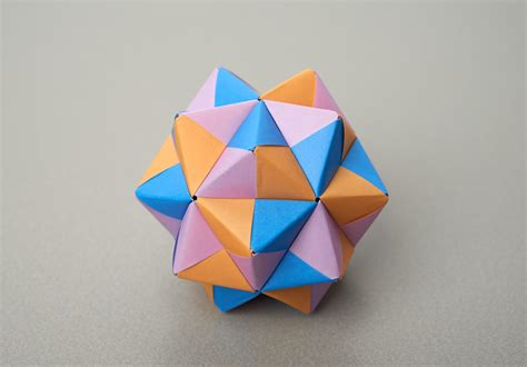 origami stellated dodecahedron folding challenges maths org