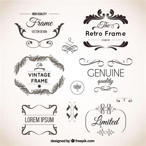 retro ornaments vintage ornaments set vector premium