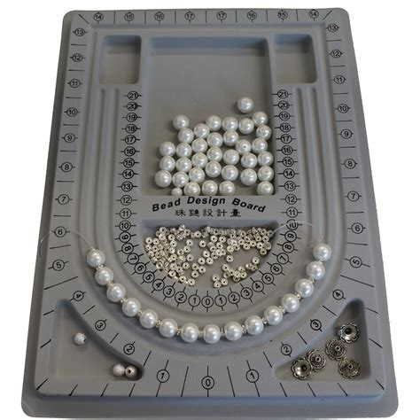 bead boards jewelry grey color plastic bead design board for beading jewelry