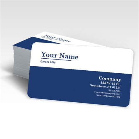 Buy Rounded Corner Business Cards In Fl Radius 1 4 Quot Or 1 8 Quot