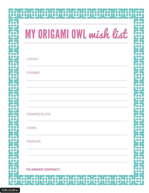 origami list of things origami owl wish list my charms piano american flag