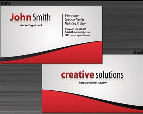 how to make a business card in photoshop cs6 30 design tutorials for creating professional business