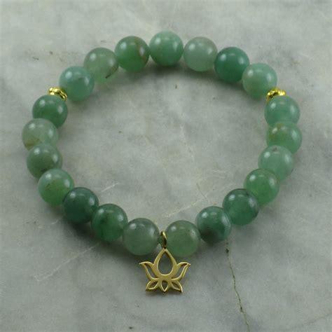 green bead bracelet prosperity ayurvedic bracelet for vata 21 mala