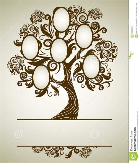 design for tree vector family tree design with frames stock vector image