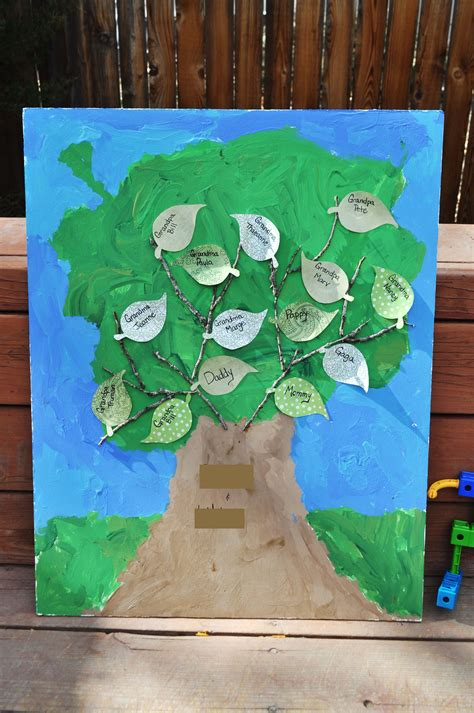 tree craft for a family tree craft for the musings from mommyland