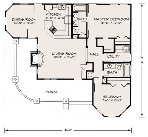 Craftsman Bungalow Floor Plans farmhouse style house plan 2 beds 2 00 baths 1270 sq ft