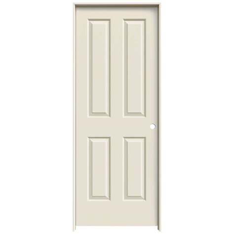 interior panel doors home depot jeld wen 28 in x 80 in molded smooth 4 panel primed white hollow composite single prehung