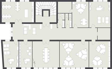 2d Floor Plan In office layout roomsketcher