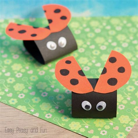 simple craft for simple ladybug paper craft easy peasy and