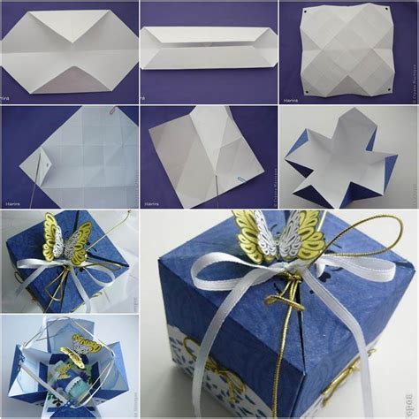 how to make a origami present diy pretty origami gift box