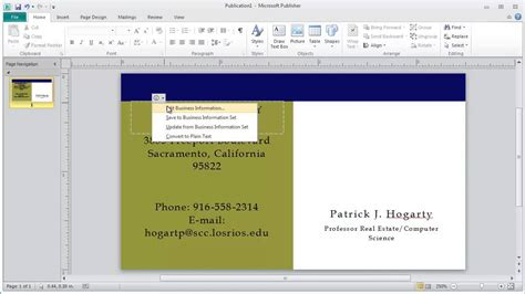 how to make a business card in microsoft word how to use microsoft publisher templates to create a