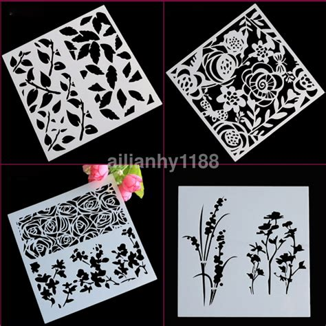 stencils for card ca layering stencils templates for scrapbooking drawing