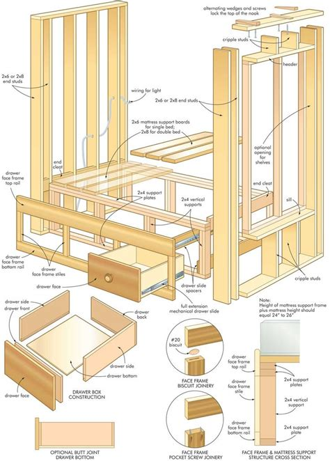 futon woodworking plans built in bunk bed dimensions woodworking projects plans