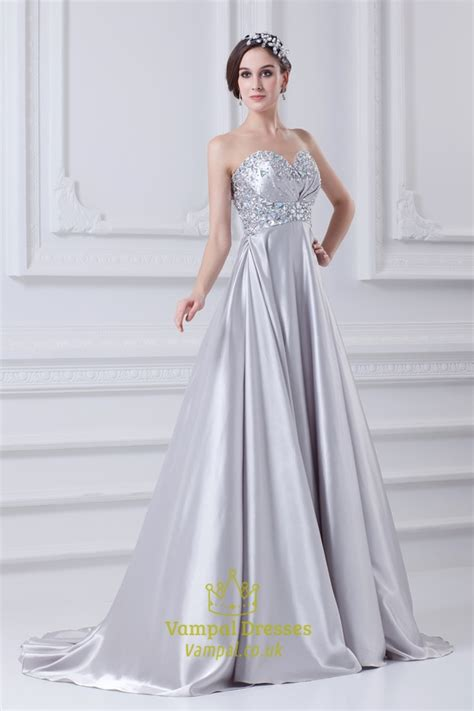 beaded bodice prom dress silver a line prom dress with beaded top prom dresses with