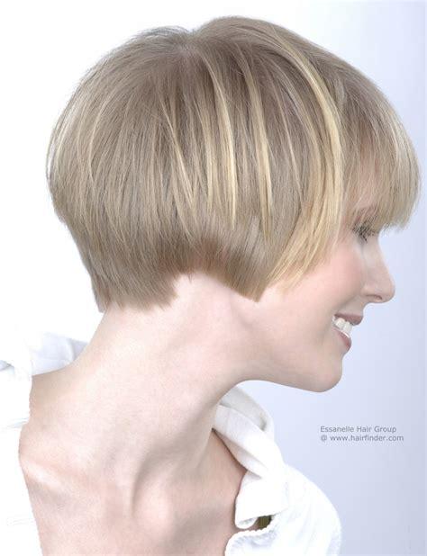 ear length bob hairstyle women s hair cut to ear length side view
