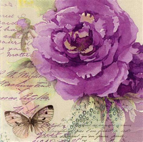 Decoupage Paper Napkins Of Classic Purple With A
