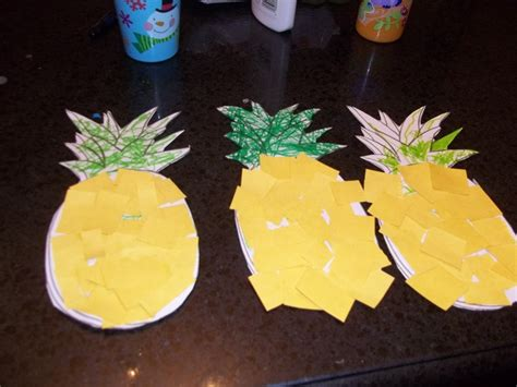 paper pineapple craft 70 best fruits and vegetables thematic activities images