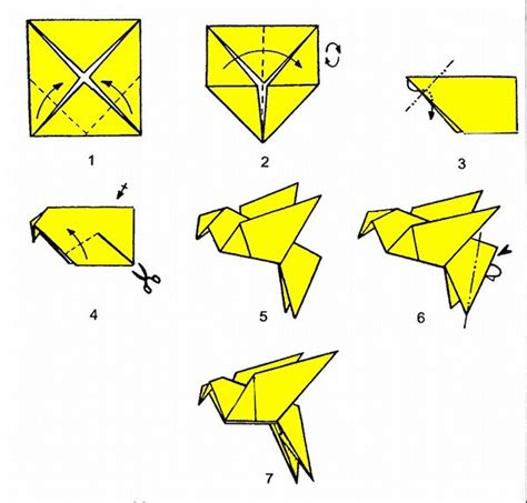 origami guide dove or other bird