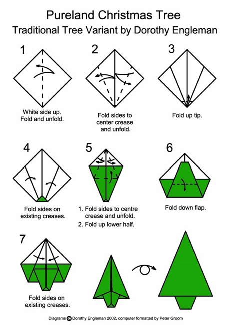 how to make an origami tree tree happy holidays