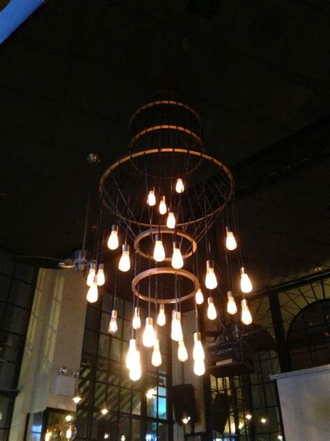 hanging edison bulb chandelier 1000 ideas about edison bulb chandelier on