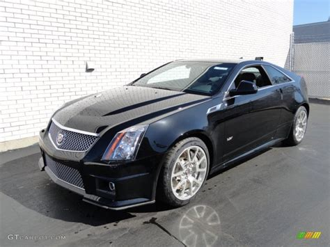 2012 Black Cadillac Cts by Black 2012 Cadillac Cts V Coupe Exterior Photo