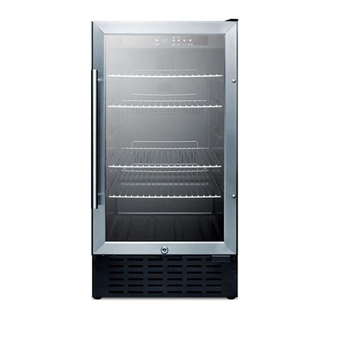 home refrigerator with glass door summit appliance 18 in 2 7 cu ft mini refrigerator with