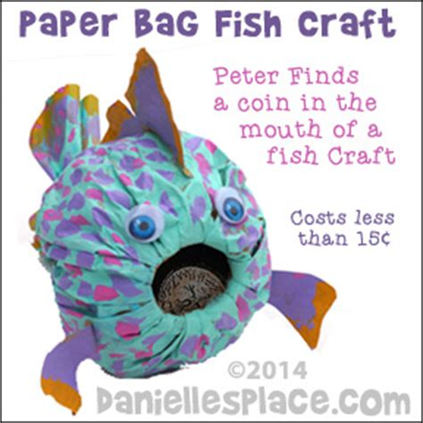 paper bag fish craft your and get out of the way by straub