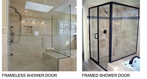 shower door and frame the differences between a framed and a frameless shower door