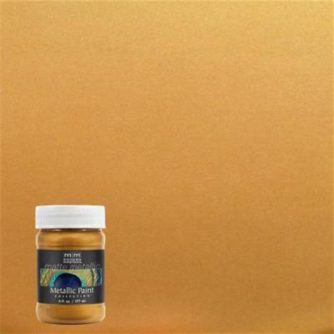 home depot paint olympic modern masters 6 oz olympic gold matte metallic interior