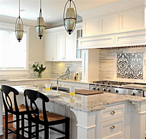 Two Color Kitchen Cabinet Ideas bianco romano granite kitchen transitional with cabinet
