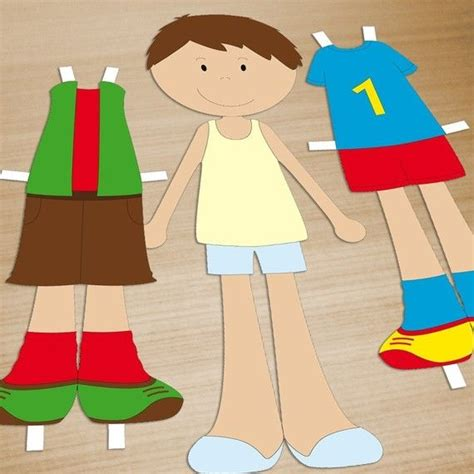 paper doll craft printable doll pdf paper craft