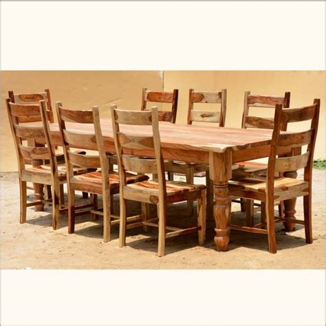 kitchen dining room table and chairs furniture brown wooden rectangle dining table with six