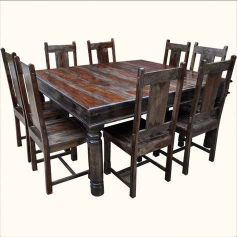 square oak dining table for 8 large solid wood square dining table chair set for 8