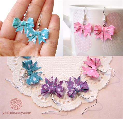 how to make a ribbon origami origami threat ribbon earrings by yael360 on deviantart