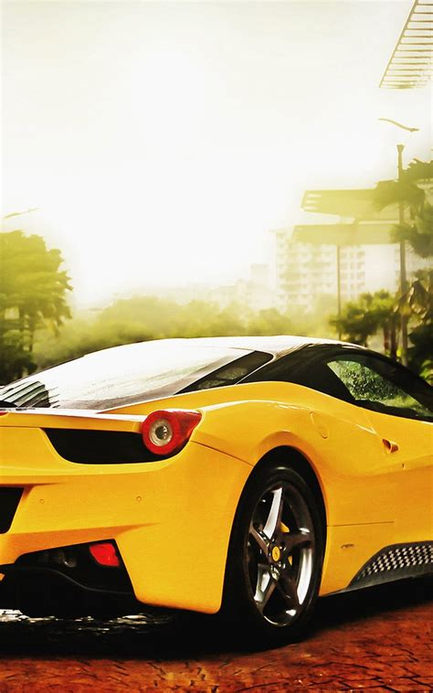 Car Wallpaper In Mobile by Yellow Car Mobile Hd Wallpaper Wallpapers