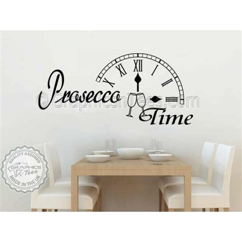 kitchen wall quote stickers prosecco time kitchen dining room wall sticker quote