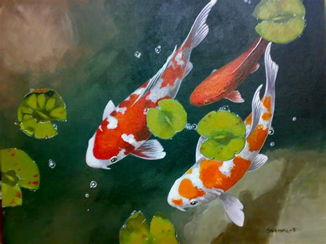acrylic painting koi fish related keywords suggestions for koi acrylic paintings