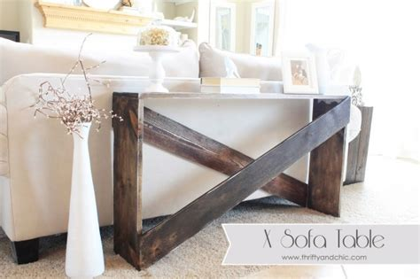 simple sofa table remodelaholic stylish and simple diy sofa table