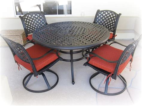patio table with chairs metal patio table and chairs set marceladick
