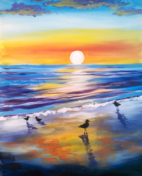 paint nite pass learn to paint birds