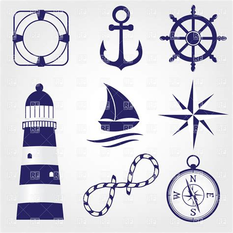Lighthouse Wall Sticker set of marine symbols 27839 icons and emblems download